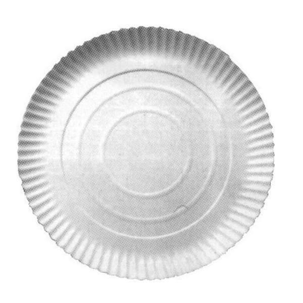 Obalový materiál drogerie - Papírový talíř hluboký - průměr 34 cm, 50 ks