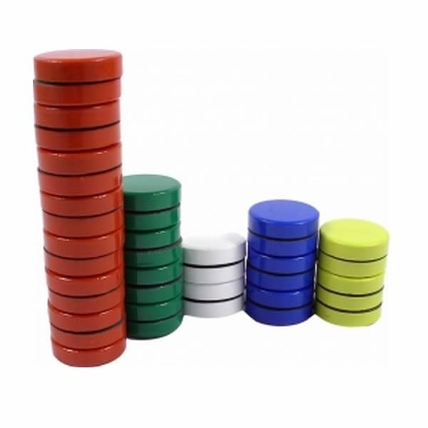 Kancelářské potřeby - Magnet kulatý barevný - 16mm, 10ks