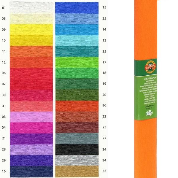 Papír tiskopisy - Krepový papír KOH-I-NOOR 9755 - 11, světle oranžový
