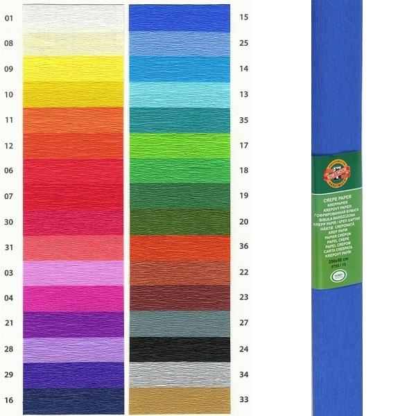 Papír tiskopisy - Krepový papír KOH-I-NOOR 9755 - 15, modrý
