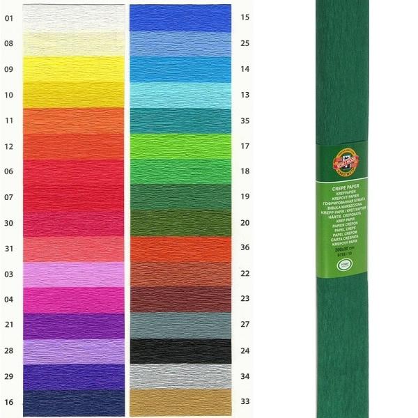 Papír tiskopisy - Krepový papír KOH-I-NOOR 9755 - 19, tmavě zelený