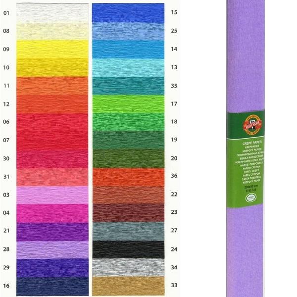Papír tiskopisy - Krepový papír KOH-I-NOOR 9755 - 28, světle fialový