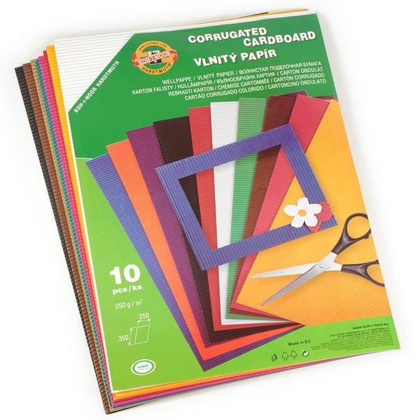 Papír tiskopisy - Vlnitý papír KOH-I-NOOR 9758 - mix, 10 barev
