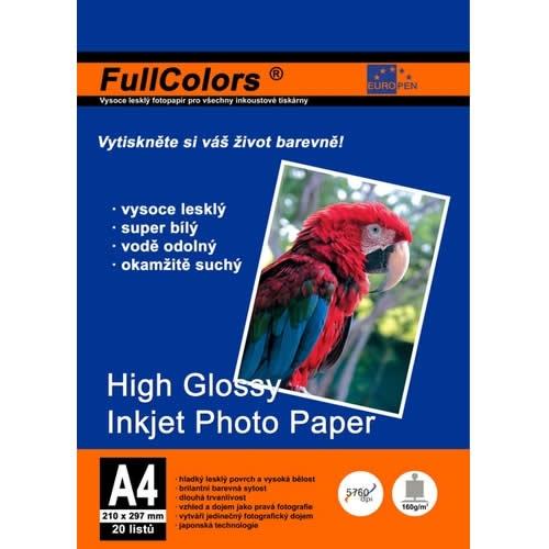 Papír tiskopisy - Fotopapír Europen A4 150 g 20 ks vysoce lesklý