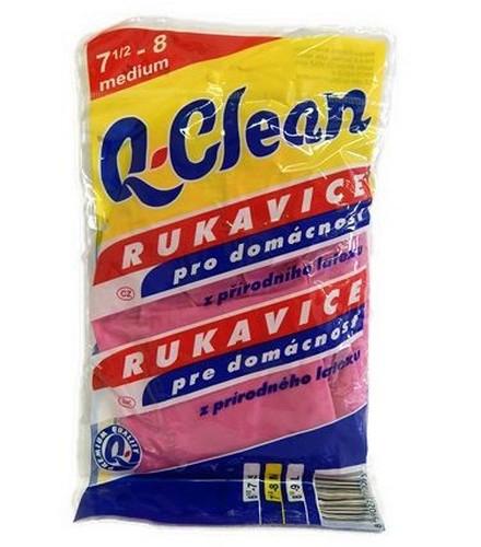 Obalový materiál drogerie - Gumové rukavice Q-Clean