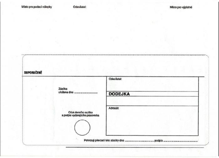 Papír tiskopisy - DODEJKA C5 BÍLÁ NCR, vytrhávací okénko