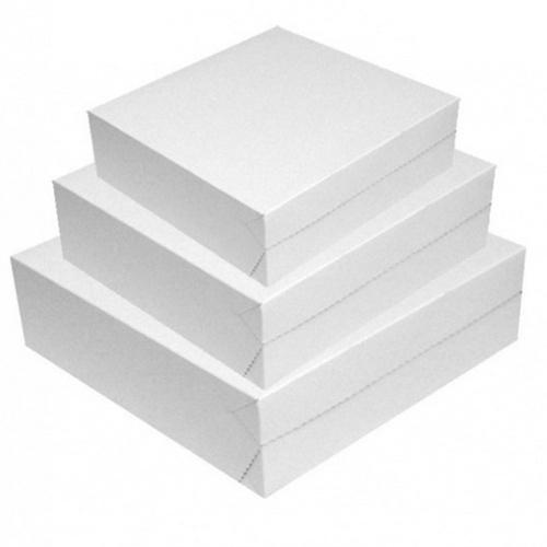 Obalový materiál drogerie - Dortová krabice - 25x25x10cm, 50kusů