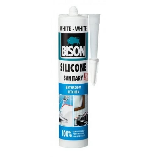 Obalový materiál drogerie - BISON SILICONE SANITARY - 280 ml