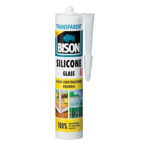 Obalový materiál drogerie - BISON SILICONE GLASS TRANSPARENT 280 ml