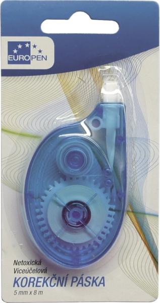 Kancelářské potřeby - Korekční strojek Europen 5mm x 8m - blistr