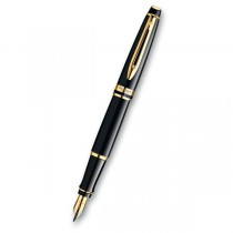 Waterman Expert Black Lacquer GT hrot F