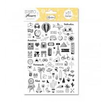 Stampo Planner Aladine - Cestování 81 ks