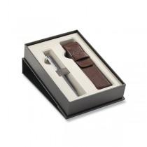 Parker Urban Premium Silver Powder CT plnicí pero, dárková kazeta s pouzdrem