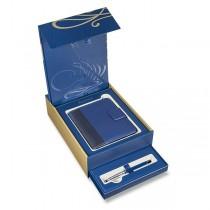 Waterman Expert Deluxe Blue CT plnicí pero, dárková kazeta se zápisníkem