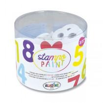 Razítka Aladine Stampo Paint - Číslice 12 ks