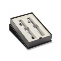 Parker Royal Vector Stainless Steel sada plnicí pero a kuličková tužka