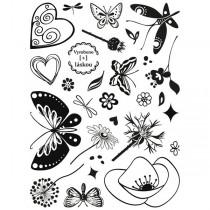 Razítka Aladine Stampo Textile Motýlí zahrada
