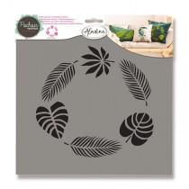 Plastová šablona AladinE - Tropické listy 28 x 28 cm