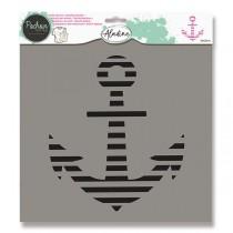Plastová šablona AladinE - Kotva 28 x 28 cm