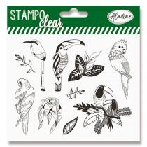 Razítka gelová Stampo Clear Tropičtí ptáci