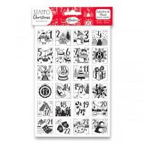 Razítka Stampo Christmas Aladine - Adventní kalendář 24 ks
