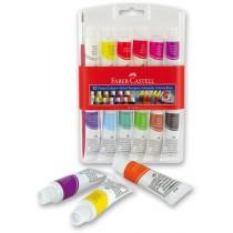 Temperové barvy Faber-Castell 12 barev, tuba 12 ml
