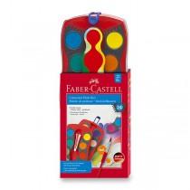 Vodové barvy Faber-Castell Connector 24 barev, průměr 30 mm