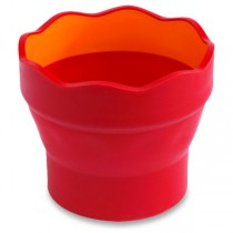 Kelímek na vodu Faber-Castell Clic&Go červený