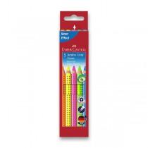 Pastelky Faber-Castell Jumbo Grip Neon 5 barev