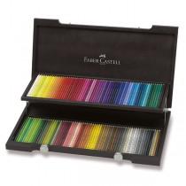 Pastelky Faber-Castell Polychromos dřevěná kazeta, 120 barev