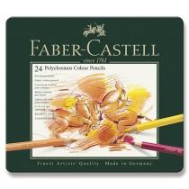Pastelky Faber-Castell Polychromos plechová krabička, 24 barev