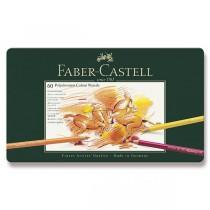 Pastelky Faber-Castell Polychromos plechová krabička, 60 barev