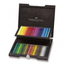 Pastelky Faber-Castell Polychromos dřevěná kazeta, 72 barev