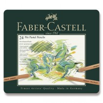 Umělecké pastely Faber-Castell Pitt Pastel plechová krabička, 24 barev