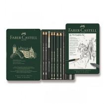 Grafitová tužka Faber-Castell Pitt Monochrome Graphite sada 11 kusů
