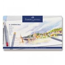 Akvarelové pastelky Faber-Castell Goldfaber Aqua plechová krabička, 36 barev