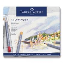 Akvarelové pastelky Faber-Castell Goldfaber Aqua plechová krabička, 48 barev