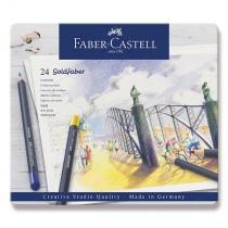 Pastelky Faber-Castell Goldfaber plechová krabička, 24 barev