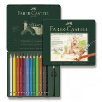 Akvarelové pastelky Faber-Castell Albrecht Dürer Magnus plechová krabička, 12 barev