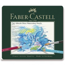 Akvarelové pastelky Faber-Castell Albrecht Dürer plechová krabička, 24 barev