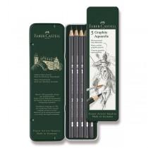 Akvarelová grafitová tužka Faber-Castell Art Aquarelle 5 ks, plechová krabička
