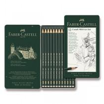 Grafitová tužka Faber-Castell Castell 9000 Art Set 12 ks, plechová krabička