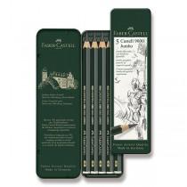 Grafitová tužka Faber-Castell Castell 9000 Jumbo 5 ks, plechová krabička