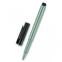 Popisovač Faber-Castell Pitt Artist Pen Metallic metalický zelený