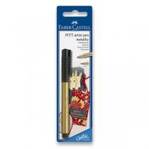 Popisovač Faber-Castell Pitt Artist Pen Metallic blistr, zlatý