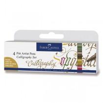 Popisovač Faber-Castell Pitt Artist Pen Calligraphy 4 kusy
