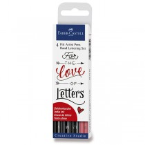 Popisovač Faber-Castell Pitt Artist Pen Hand Lettering 4 kusy