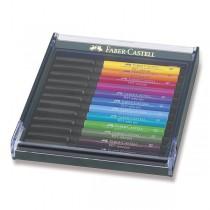 Popisovače Faber-Castell Pitt Artist Pen Brush 12 ks, základní barvy