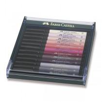 Popisovače Faber-Castell Pitt Artist Pen Brush 12 ks, tělové barvy