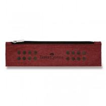 Pouzdro Faber-Castell Grip Melange tmavě červené